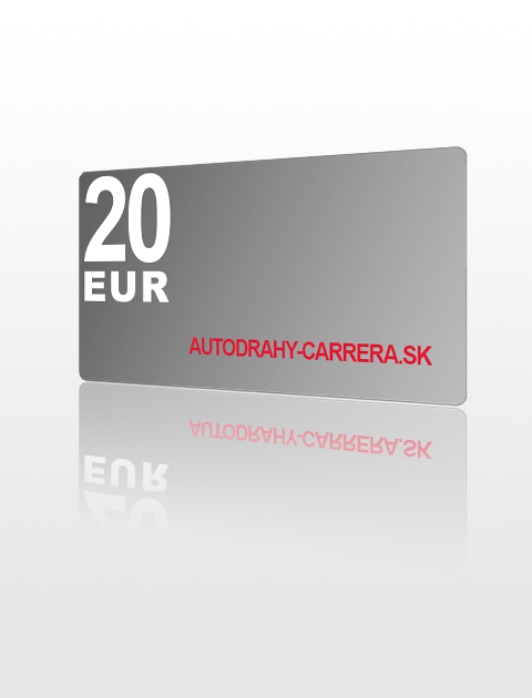 20 EUR poukážka do autodrahy-carrera.sk