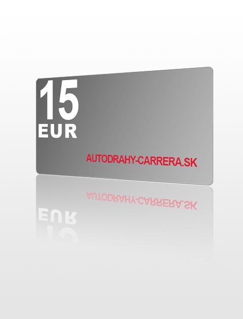 15 EUR poukážka do autodrahy-carrera.sk