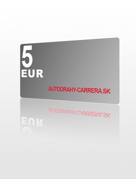 5 EUR poukážka do autodrahy-carrera.sk