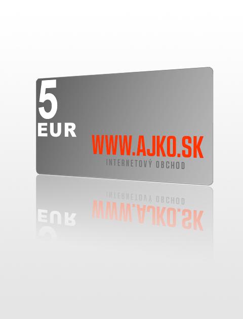 5 EUR poukážka do ajko.sk