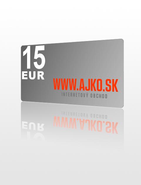15 EUR poukážka do ajko.sk