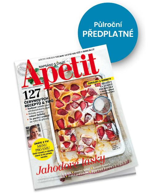 Půlroční předplatné časopisu Apetit