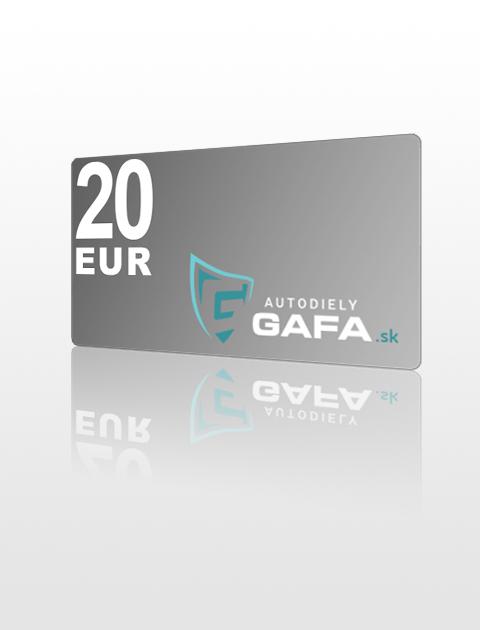 20 EUR Poukážka do Autodiely Gafa