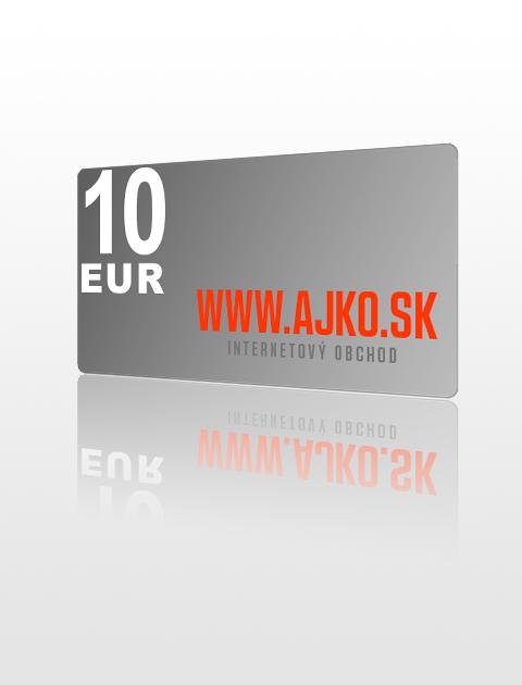10 EUR poukážka do ajko.sk