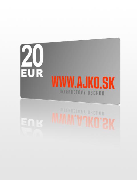 20 EUR poukážka do ajko.sk